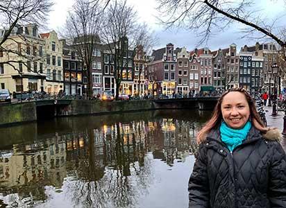 kristyn travels in Amsterdam